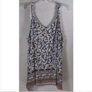 Torrid size 4 women's tank top shirt 4X 26 floral
